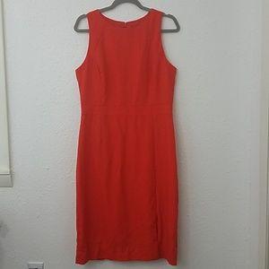 J crew dress 10 Tall Gwen 100% wool red princess